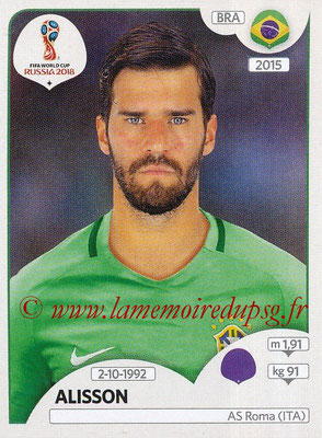 2018 - Panini FIFA World Cup Russia Stickers - N° 354 - ALISSON (Bresil)