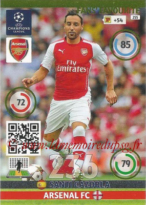 2014-15 - Adrenalyn XL champions League N° 255 - Santi CAZORLA (Arsenal FC) ( Fans' Favourite)