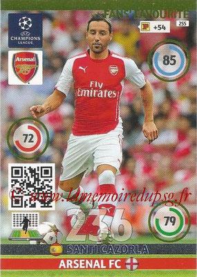 2014-15 - Adrenalyn XL champions League N° 255 - Santi CAZORLA (Arsenal FC) ( Fans' Favourite)