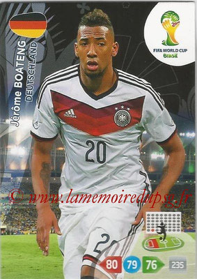 2014 - Panini FIFA World Cup Brazil Adrenalyn XL - N° 105 - Jérôme BOATENG (Allemagne)