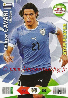 2014 - Panini Road to FIFA World Cup Brazil Adrenalyn XL - N° 189 - Edinson CAVANI (Uruguay) (Star Player)