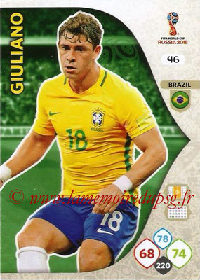 2018 - Panini FIFA World Cup Russia Adrenalyn XL - N° 046 - GIULIANO (Brésil)