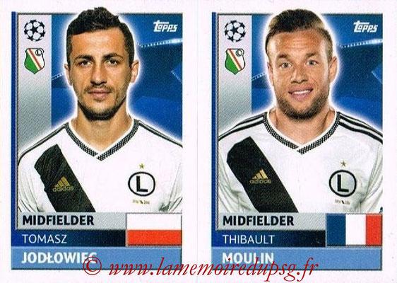 2016-17 - Topps UEFA Champions League Stickers - N° QFE 7-8 - Thibault MOULIN + Tomasz JODLOWIEC (Legia Varsovie)