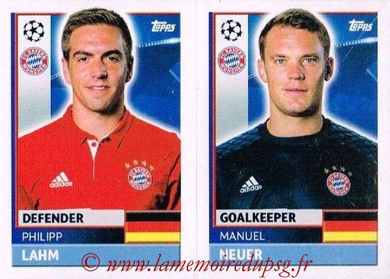 2016-17 - Topps UEFA Champions League Stickers - N° BMU 4-5- Manuel NEUER + Phillip LAHM (FC Bayern Munich)