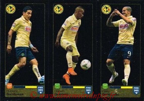 2015-16 - Panini FIFA 365 Stickers - N° 630-631-632 - Rubens SAMBUEZA + Darwin QUINTERO + Darío BENEDETTO (Club America)
