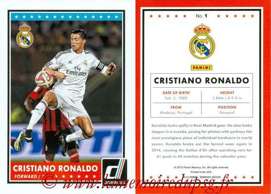 2015 - Panini Donruss Soccer - N° 001 - Cristiano RONALDO (Real Madrid CF)