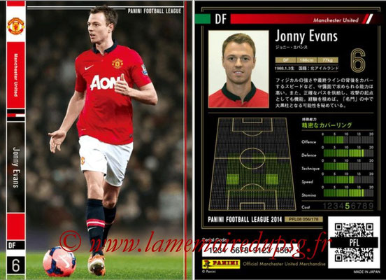 Panini Football League 2014 - PFL08 - N° 056 - Jonny EVANS (Manchester United)
