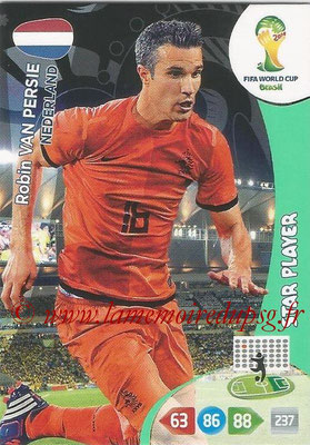 2014 - Panini FIFA World Cup Brazil Adrenalyn XL - N° 260 - Robin VAN PERSIE (Pays-Bas) (Star Player)