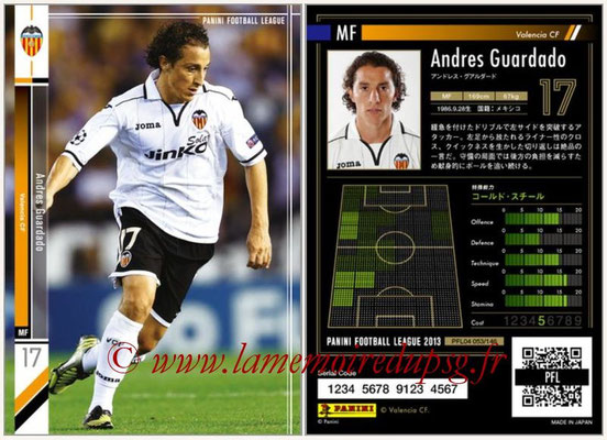 Panini Football League 2013 - PFL04 - N° 053 - Andres GUARDADO (FC Valence)