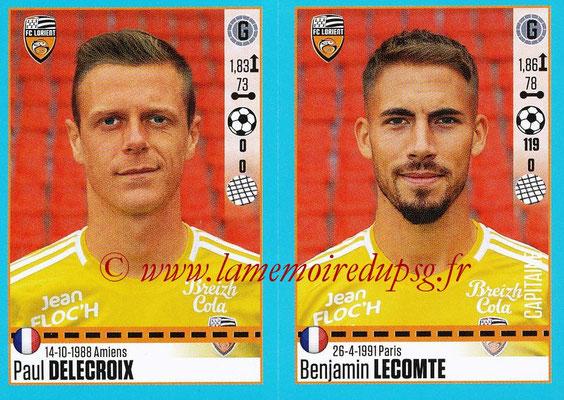 2016-17 - Panini Ligue 1 Stickers - N° 314 + 315 - Paul DELECROIX + Benjamin  LECOMTE (Lorient)