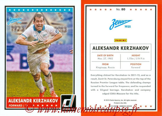 2015 - Panini Donruss Soccer - N° 080 - Aleksandr KERZHAKOV (FC Zenit)