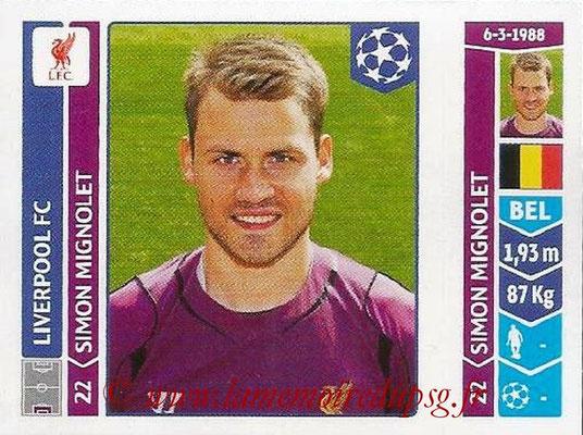 2014-15 - Panini Champions League N° 145 - Simon MIGNOLET (Liverpool FC)