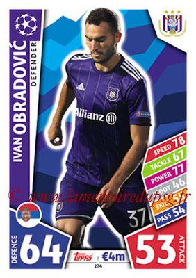 2017-18 - Topps UEFA Champions League Match Attax - N° 274 - Ivan OBRADOVIC (RCS Anderlecht)