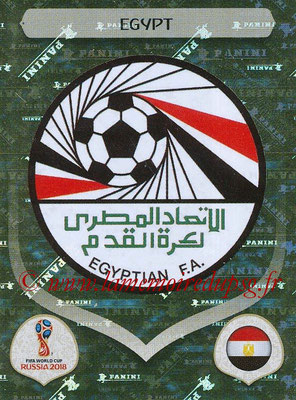 2018 - Panini FIFA World Cup Russia Stickers - N° 072 - Ecusson Egypte