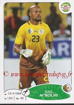 2014 - Panini Road to FIFA World Cup Brazil Stickers - N° 369 - Rais M'BOLHI (Algérie)