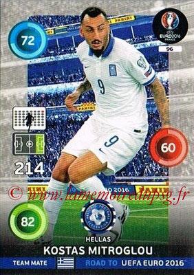 Panini Road to Euro 2016 Cards - N° 096 - Kostas MITROGLOU (Grèce)