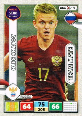 2018 - Panini Road to FIFA World Cup Russia Adrenalyn XL - N° RUS15 - Oleg SHATOV (Russie)