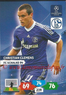 2013-14 - Adrenalyn XL champions League N° 249 - Christian CLEMENS (FC Schalke 04)
