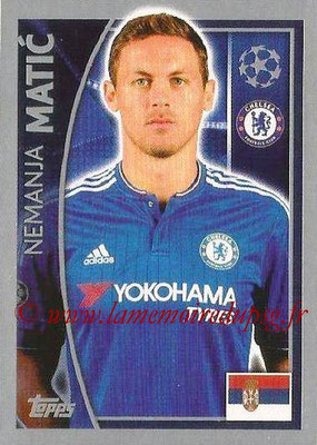 2015-16 - Topps UEFA Champions League Stickers - N° 456 - Nemanja MATIC (Chelsea FC)