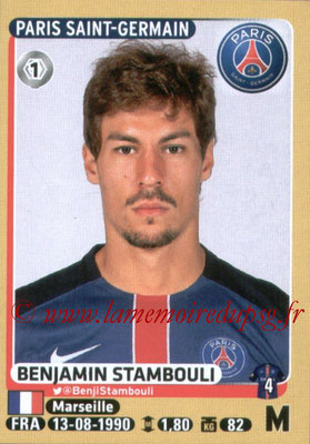 2015-16 - Panini Ligue 1 Stickers - N° 353 - Benjamin STAMBOULI (Paris Saint-Germain)