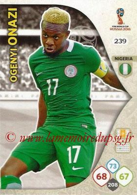 2018 - Panini FIFA World Cup Russia Adrenalyn XL - N° 239 - Ogenyi ONAZI (Nigeria)