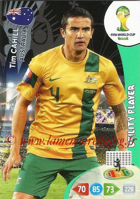2014 - Panini FIFA World Cup Brazil Adrenalyn XL - N° 023 - Tim CAHILL (Australie) (Utility Player)