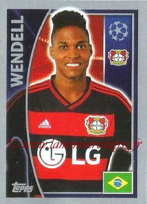 2015-16 - Topps UEFA Champions League Stickers - N° 322 - WENDELL (Bayer 04 Leverkusen)
