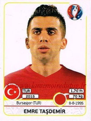 Panini Euro 2016 Stickers - N° 413 - Emre TASDEMIR (Turquie)