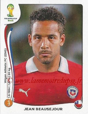 2014 - Panini FIFA World Cup Brazil Stickers - N° 160 - Jean BEAUSEJOUR (Chili)