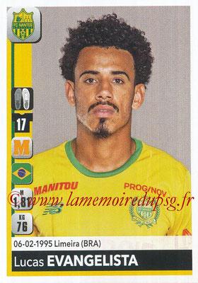 2018-19 - Panini Ligue 1 Stickers - N° 286 - Lucas EVANGELISTA (Nantes)