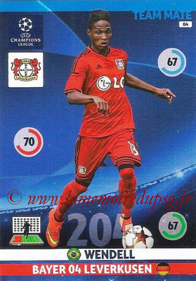 2014-15 - Adrenalyn XL champions League N° 084 - WENDELL (Bayer Leverkusen)