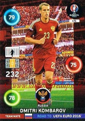 Panini Road to Euro 2016 Cards - N° 176 - Dimitri KOMBAROV (Russie)