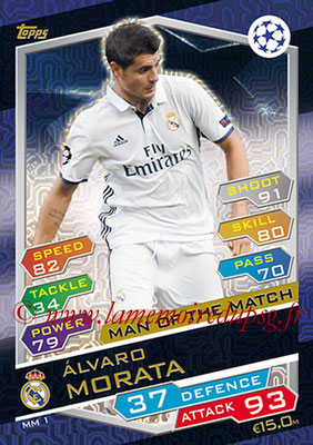 2016-17 - Topps UEFA Champions League Match Attax - N° MM1 - Alvaro MORATA (Real Madrid CF) (Man of the Match)