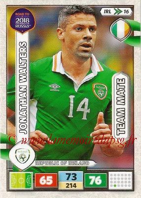 2018 - Panini Road to FIFA World Cup Russia Adrenalyn XL - N° IRL16 - Jonathan WALTERS (République d'Irlande) (UK Version)