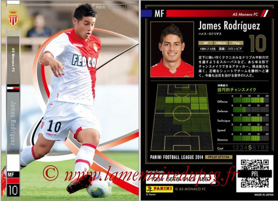 Panini Football League 2014 - PFL07 - N° 077 - James RODRIGUEZ (AS Monaco) (Star)