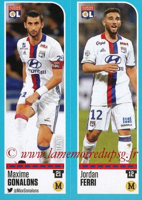 2016-17 - Panini Ligue 1 Stickers - N° 350 + 351 - Maxime GONALONS + Jordan FERRI (Lyon)