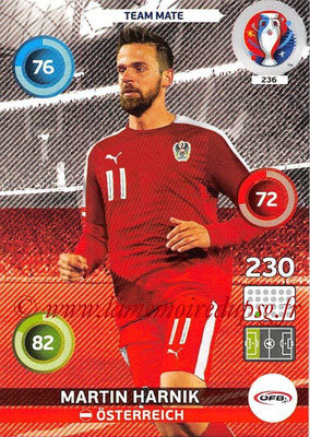 Panini Euro 2016 Cards - N° 236 - Martin HARNIK (Autriche)
