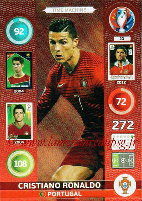 Panini Euro 2016 Cards - N° 023 - Cristiano RONALDO (Portugal) (Time Machine)