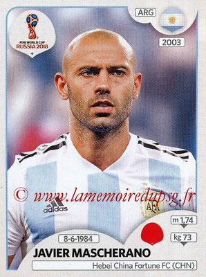2018 - Panini FIFA World Cup Russia Stickers - N° 277 - Javier MASCHERANO (Argentine)