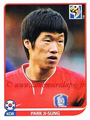 2010 - Panini FIFA World Cup South Africa Stickers - N° 154 - Park JI-SUNG (Corée du Sud)