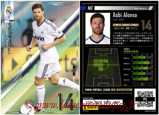 Panini Football League 2013 - PFL01 - N° 063 - Xabi Alonso ( Real Madrid )