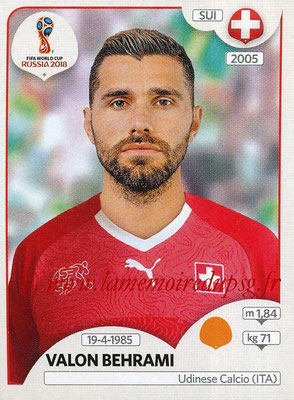 2018 - Panini FIFA World Cup Russia Stickers - N° 386 - Valon BEHRAMI (Suisse)