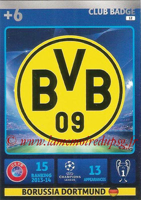 2014-15 - Adrenalyn XL champions League N° 012 - Logo Borussia Dortmund (Club Badge)