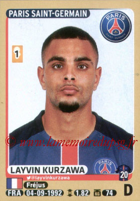 2015-16 - Panini Ligue 1 Stickers - N° 341 - Layvin KURZAWA (Paris Saint-Germain)