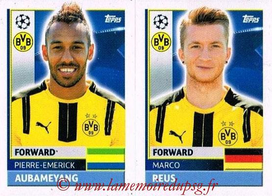 2016-17 - Topps UEFA Champions League Stickers - N° DOR 18-19 - Marco REUS + Pierre-Emerick AUBAMEYANG (Borussia Dortmund)