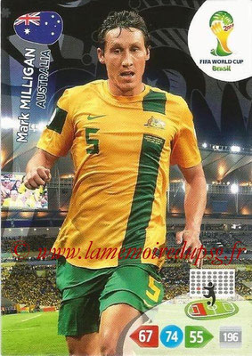 2014 - Panini FIFA World Cup Brazil Adrenalyn XL - N° 020 - Mark MILLIGAN (Australie)