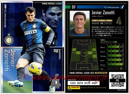 Panini Football League 2013 - PFL04 - N° 140 - Javier ZANETTI (Inter Milan) (Bandiera)