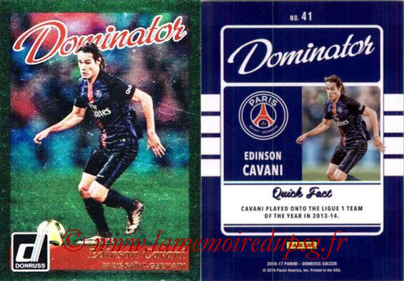 2016 - Panini Donruss Cards - N° D41 - Edinson CAVANI (Paris Saint-Germain) (Dominator)