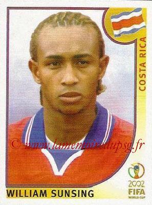 2002 - Panini FIFA World Cup Stickers - N° 236 - William SUNSING (Costa Rica)