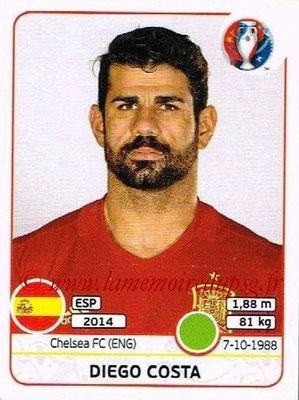 Panini Euro 2016 Stickers - N° 371 - Diego COSTA (Espagne)